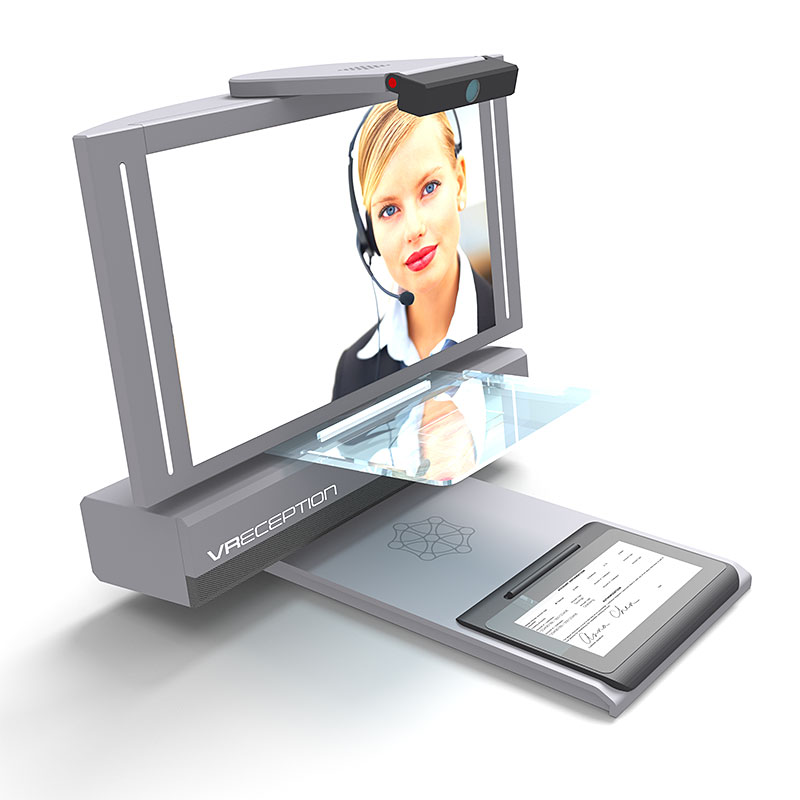 Virtual Reception Self Check-in Workstation | Video Communication